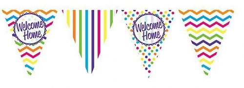PAPER FLAG BUNTING 12FT WELCOME HOME